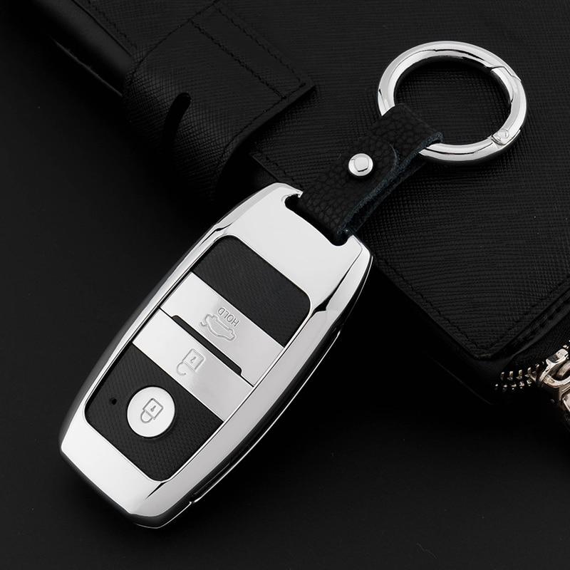 GPFORTYSIX Zinc alloy Car Key Fob Cover Case For Kia Rio K2 Sportage 2017 Optima K5 Ceed Sorento Soul Cerato K3 Forte remote