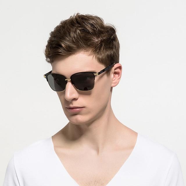 e1c82ba8b Óculos Steampunk Homens Carter Lunette Shades Óculos De Sol Polarizado  Masculino Óculos de Sol de Luxo