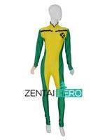 Free Shipping NEW Custom Marvel Comic X men Costume Rogue Superhero Costume Lycra Spandex Zentai Catsuit For Female Bodysuit
