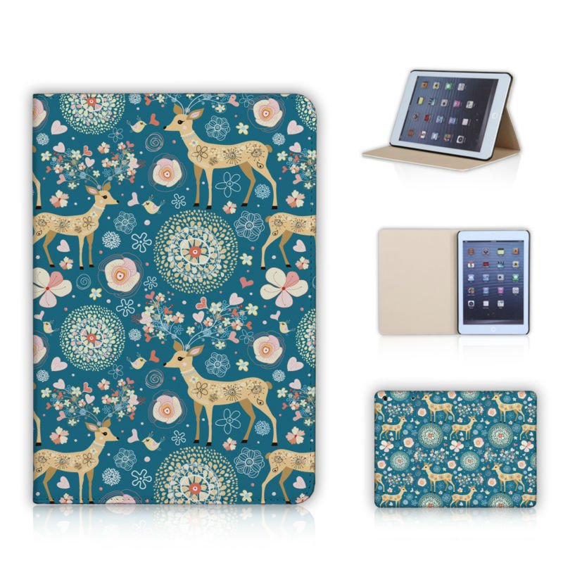 Fabulous Flower Deer Cats Birds Leather Case For Apple iPad Mini Screen Film Gift Pattern Print Cover Case For iPad mini 2 3