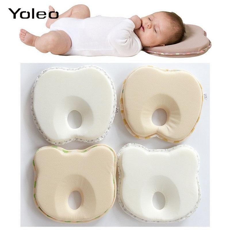 Infant Newborn Baby Pillow Cushion Prevent Flat Head Sleep Nest Pod Anti Roll MM