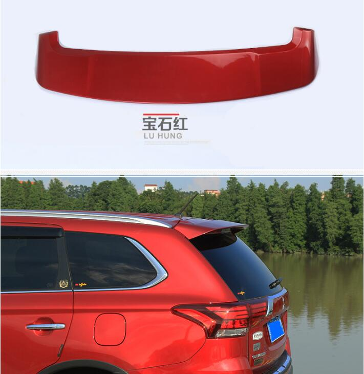 PAINT CAR REAR WING TRUNK LIP SPOILER FOR 17 Mitsubishi Outlander 2016 2017 FAST BY EMS paint abs car rear wing trunk lip spoiler for nissan qashqai 2008 2009 2010 2011 2012 2013 fast by ems
