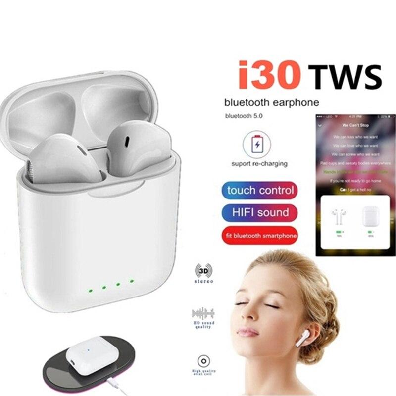 I30 tws real 1:1 réplique Pop-up sans fil Bluetooth casque 6D basse Mini casque sans fil i30 TWS pk i10 i20 i12 tws W1 puce