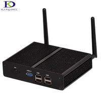 Windows 7 Fanless Palm Mini PC Celeron N2830 2.16GHz Dual Core Nettop Computer 2*HMDI LAN Wifi Desktop PC Small TV BOX 256G SSD