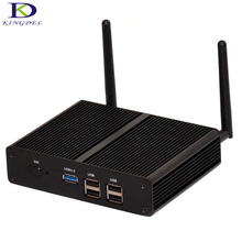 Windows 7 безвентиляторный plam mini pc celeron n2830 2.16 ГГц dual core неттопов компьютера 2 * гмди wifi desktop pc small tv box 256 г SSD