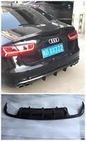 Carbon Fiber Rear Lip Spoiler For Audi A6 C7 2012.2013.2014.2015.2016.2017 High Quality Car Bumper Diffuser Auto Accessories