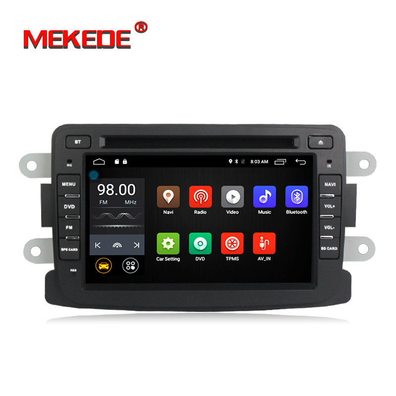 En gros! Android7.1 Voiture stéréo autoradio navigation GPS NAVI lecteur DVD pour Lada Xray 2/RENAULT Dacia/Chiffon/ logan/Sandero