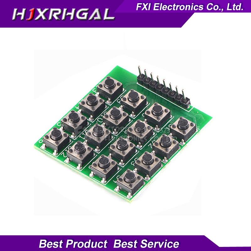 1pcs 4x4 4*4 Matrix 16 Keypad Keyboard Module 16 Button Mcu 8 pin new Free shipping