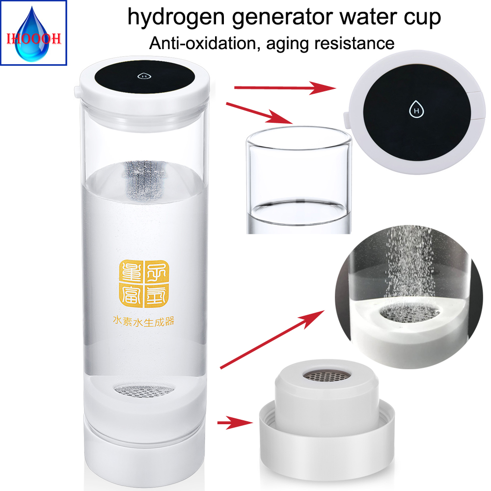 Hydrogen Water Generator Rechargeable Portable H2 and O2 separation cup 600ml IHOOOH manufacturer Quality assurance for 3 yearHydrogen Water Generator Rechargeable Portable H2 and O2 separation cup 600ml IHOOOH manufacturer Quality assurance for 3 year