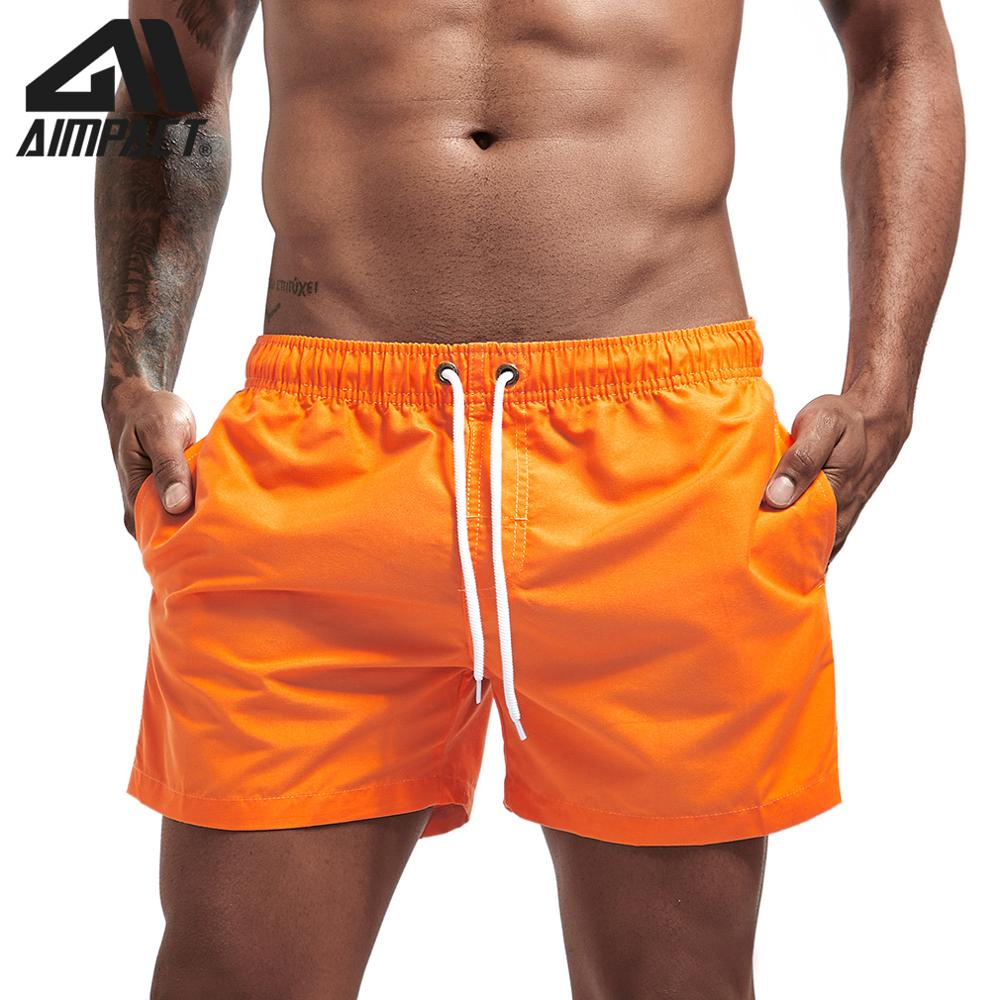 Aimpact Quick Dry Board Shorts For Men Summer Holiday Beach Surfing Swimming Short Trunks Male Running Jogging Shorts AM2166