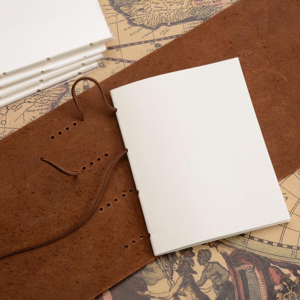Handgjord äkta läder anteckningsbokstidskrift 5x7 tums - Block och anteckningsböcker - Foto 4