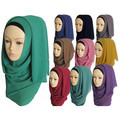 Мусульманский хиджаб исламский хиджаб женщин Мусульманское hijab джерси шарф хиджабы шифона платки равнина шарфы WL2461