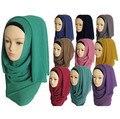 Camisa cachecol hijabs muçulmano hijab mulheres islâmicas hijab hijab Muçulmano xales chiffon lenços lisos WL2461