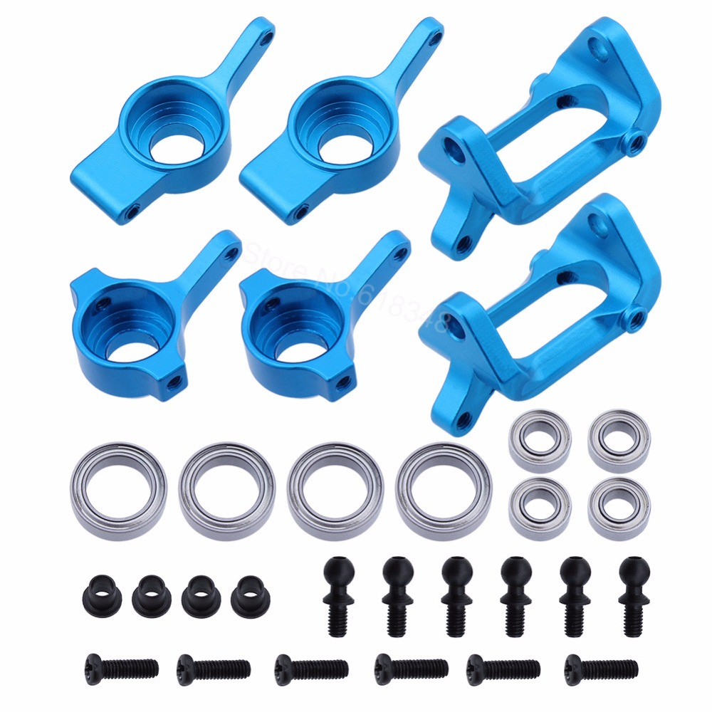 Front Rear Aluminum Steering Knuckle Hub Base C Carrier A959-05 For Wltoys A949 1/18 Scale 2.4G RTR 4WD Rally Car Metal Parts aluminum steering blocks front knuckle arms left