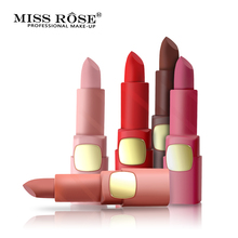 MISS ROSE Makeup Pigments Nude Color Cosmetics Matte Lipstick Waterproof Sexy Moisturizer Velvet Lip Stick Lips Maquiagem