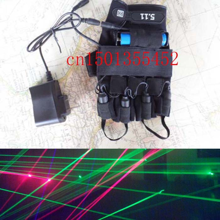Red laser 650nm refers to the 4laser gloves DJ club party stage performance bar KTV laser dance props laser gloves rg mini 3 lens 24 patterns led laser projector stage lighting effect 3w blue for dj disco party club laser