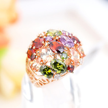 R311489 Elgant zircon Rings Zinc Alloy 18K Rose Gold platinum Plated With Austria crystal CZ fashion Jewelry