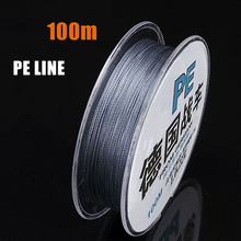 купить JOINJOY 100M PE Fishing Line 4/8 Strands Braided Multifilament Fishing Line for Fishing Lure 8-40LB Quickly into the Water дешево