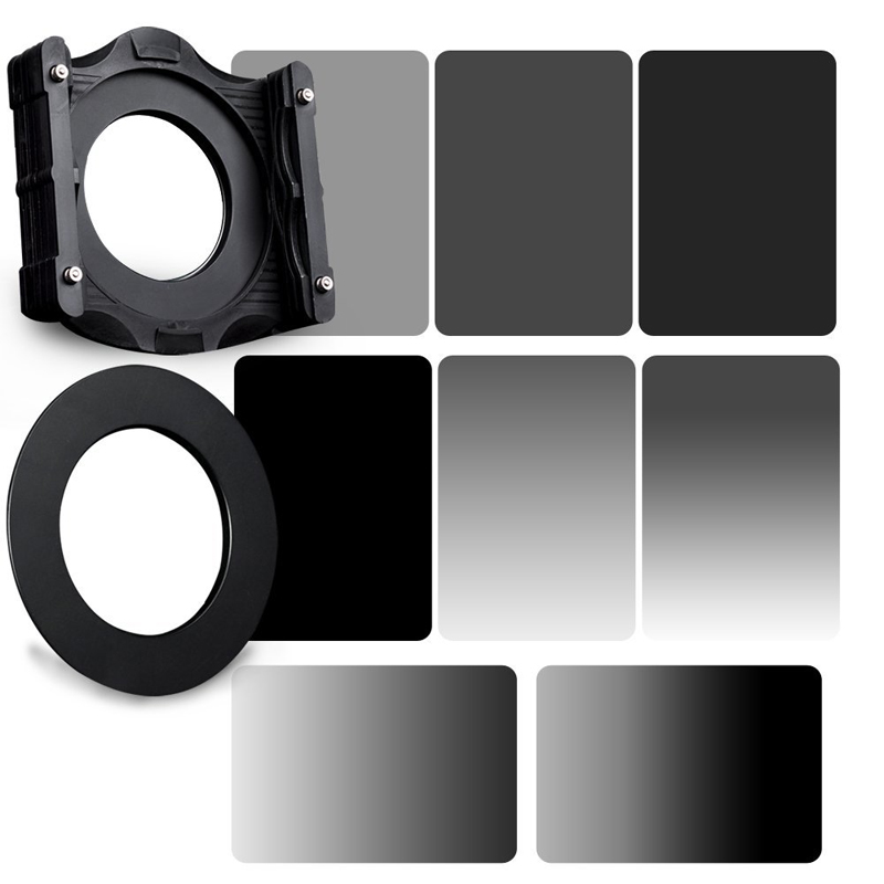 Zomei 10in1 150*100mm Square Z-PRO Series Filter Holder Support+Adapter Ring+Grey ND2/ND4/ND8/ND16+Gradual Grey ND2/ND4/ND8/ND16 zomei 6in1 filter kit 67mm ring holder 150x100mm gradual nd4 full nd2 nd4 nd8 neutral density square nd filter for cokin z