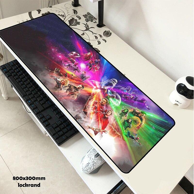 Nouveauté 80*30 cm tapis de souris Avengers Infinity War anime Gaming XL Grande Grande souris tapis de clavier gamer Thanos Iron Man