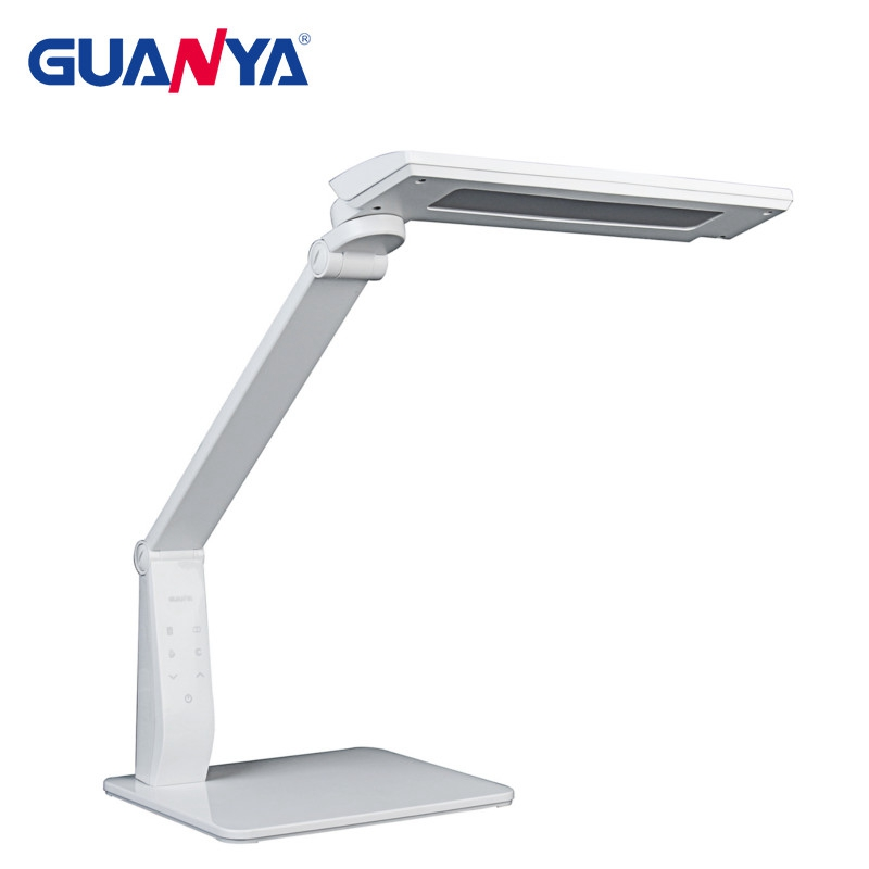 GUANYA 10W Dimmable Office LED Desk Lamp Eye Care Modern Design LED Table Light Lamp Reading Light Lamp With USB Charging Port xg6001 led dimmable desk lamp 12w eye care touch sensitive daylight folding desk lamps reading lamps bedroom lamp with usb port