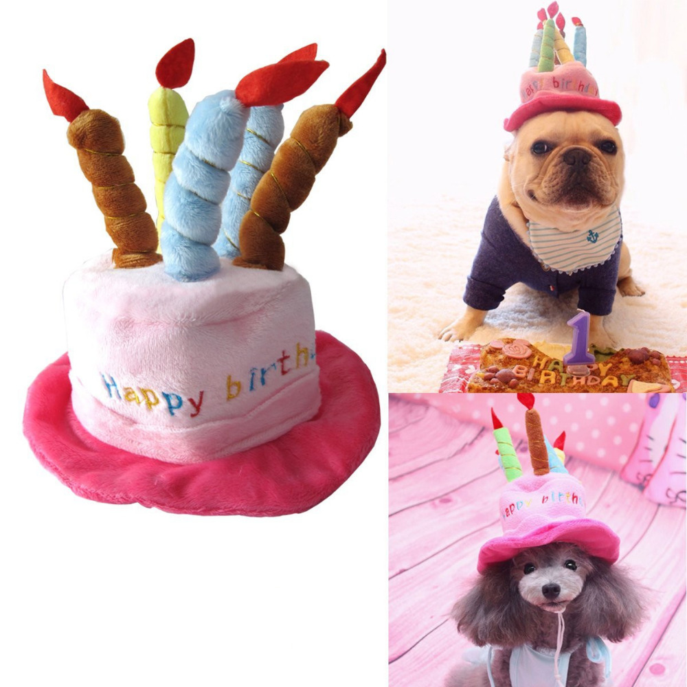 Cute Cat Dog Pet Happy Birthday Party Hat With 5 Colorful Candles Design Cosplay Costume Accessory For Small Dogs Cats In Caps From Home Garden On