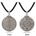 Alchemy Talisman For Good Luck Key of Solomon Pentacle Seal Pendant Necklace Hermetic Enochian Kabbalah Pagan Wiccan Jewelry