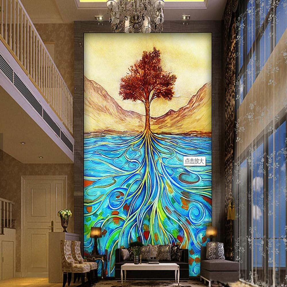 Painting Life Tree Photo Mural Wallpapers For Living Room