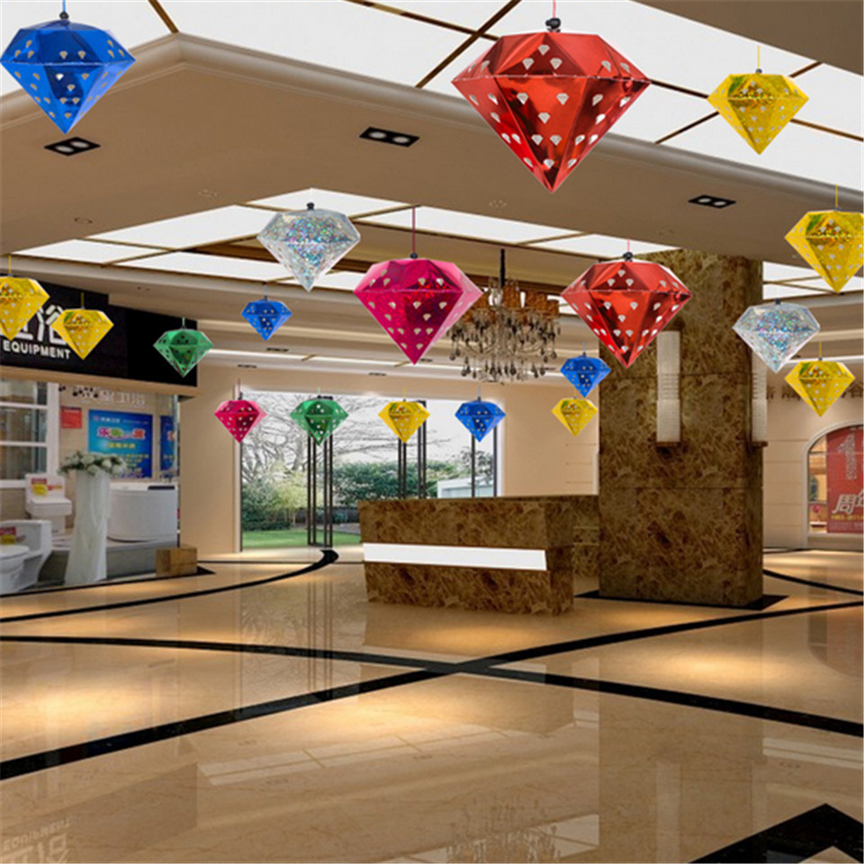 1pc Christmas Laser Diamond String Hanging Ornament Hollow Home Bar Store Market Christmas New Year Party Ceiling Decor