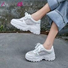 Up ฤดูร้อนรองเท้าผ้าใบรองเท้าผ้าใบผู้หญิงรองเท้าหนังแท้ 34-39 Flat