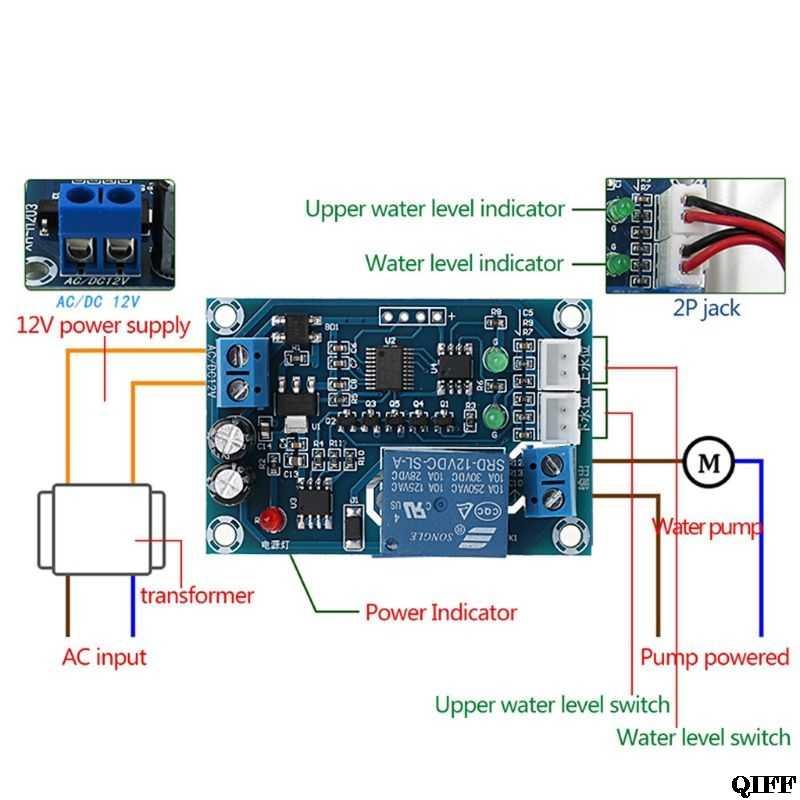 Envío Directo y venta al por mayor XH-M203 completo automático controlador de nivel de agua Módulo de interruptor de bomba AC/DC 12V relé APR28