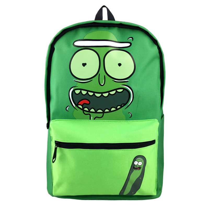 New Anime Rick and Morty High Quality Canvas Solid Color Laptop Backpack Suicide Squad Double-Shoulder School Bag high q cartoon rick and morty 2017 new arrival backpack students couple printing candy color leisure bags