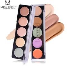 MISS ROSE Professional Concealer Palettes 5 Color makeup Foundation Facial Face Cream Cosmetic Contour Palette