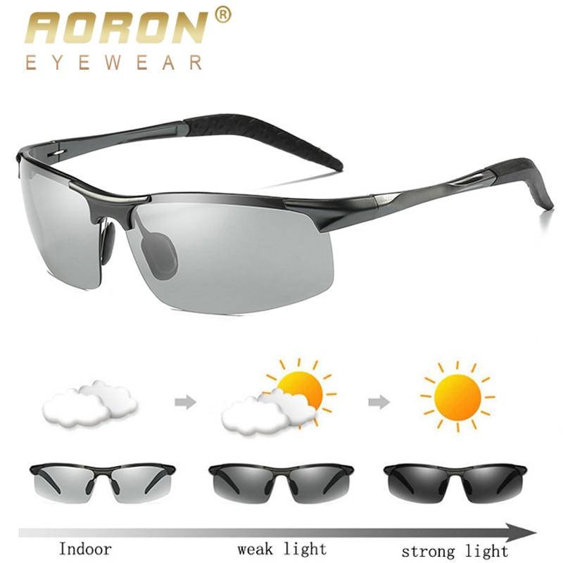 AORON Sunglaases Men Photochromic Polarized Sunglasses Aluminum Frame UV400 Sun Glasses Male Eyewear Driving Glasses|hd driving glasses|driving glassespolarized sunglasses - AliExpress