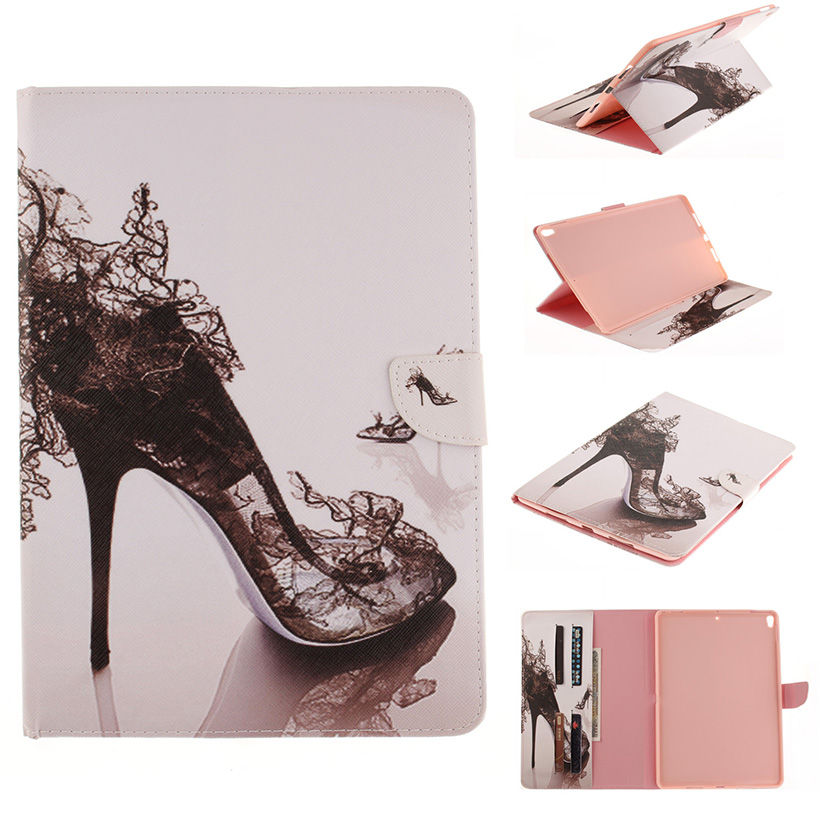 Painted Case For Apple Ipad Pro 10.5 2017 Case Smart Cover A1701 Funda Tablet Soft TPU+PU Leather Flip Stand Shell
