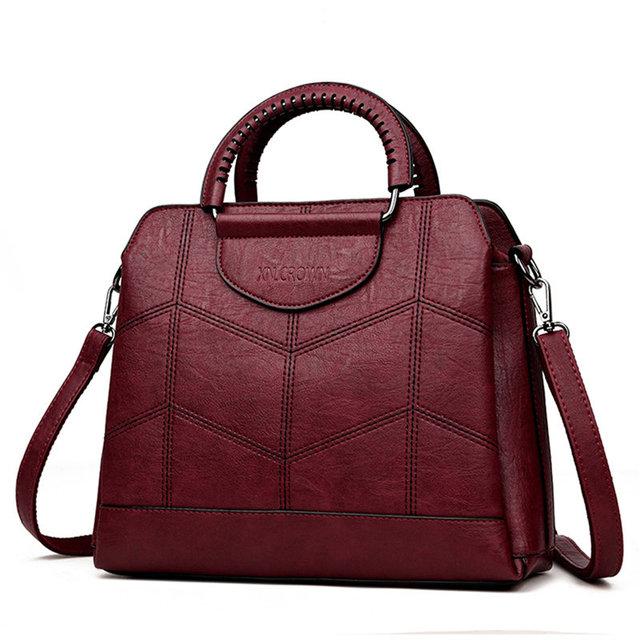 Tote Leather Luxury Handbags Women Crossbody