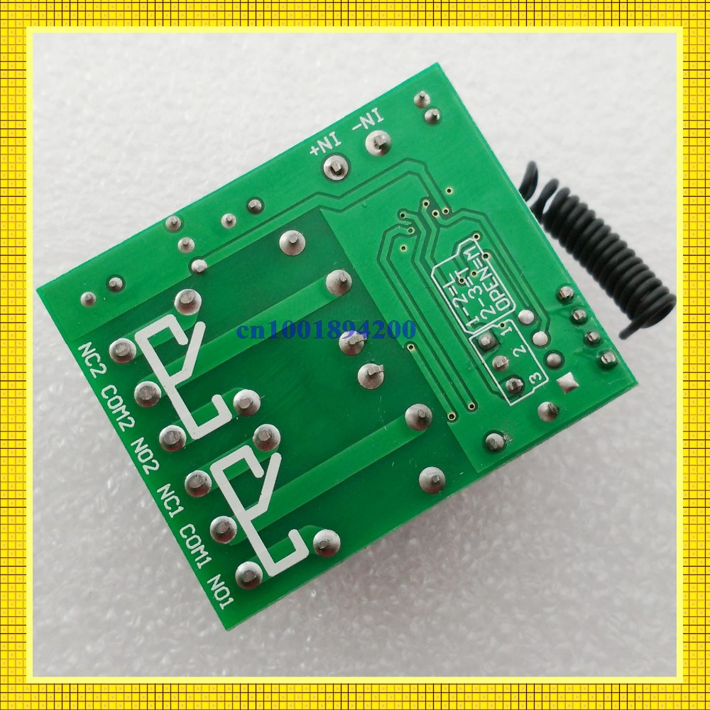 Dc 12 V 2 Ch Relay Switch Normally Open Closed Rf Wireless Remote Volt With Img 20150828 163101 Conew2 20150702 122739 Conew3 161108