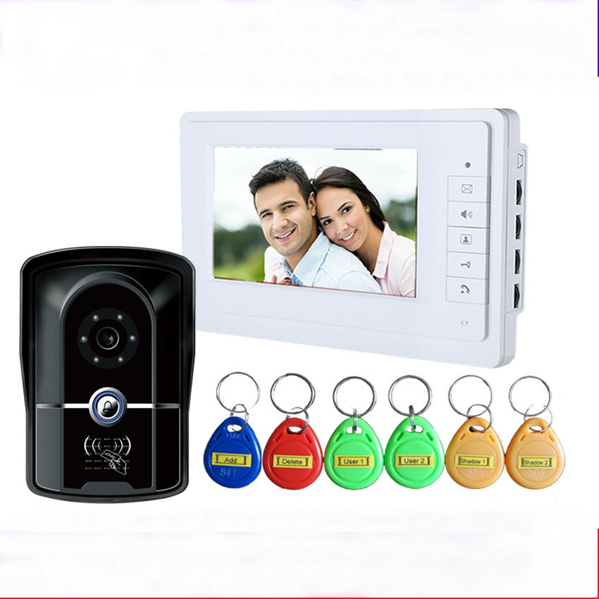 7inch wired video door phone doorbell video home intercom 1