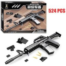 Assault Rifle Gun Model Building Blocks 524pcs Bricks Educational Toys Kits DIY Mechanical Lovers Block Kids Gift