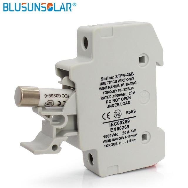 50 Pieces Lot 10x38mm Dc 1000v Solar Fuse Holder Fuse Box For Solar