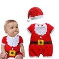 Xmas Do Bebê Bodysuit/Jumpersuit Ternos Do Corpo Do Bebê Terno Roupa de Papai Noel Do Natal Macacão Roupa Dos Miúdos da Roupa Do Bebê