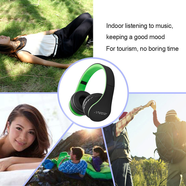 Digital 4 in 1 Earphone Andoer LH-811 Stereo Wireless Headphones BT 3.0 + EDR Headphone Headset & Wired Earphone with Mic
