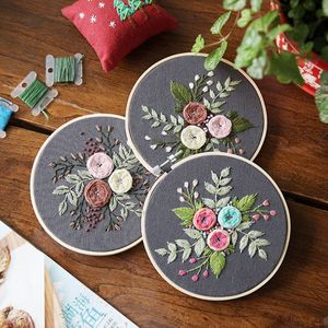 European Flowers DIY Embroider