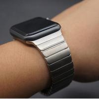 Rose Gold Gold Black Silver Luxury Stainless Steel Metal Strap Link Bracelet Band For Apple Watch