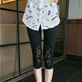 XL Summer Pants For Female Significant Lanky Elastic Waist Pants Bottoming Trousers Women Large Size Leggings 8Z-AA153