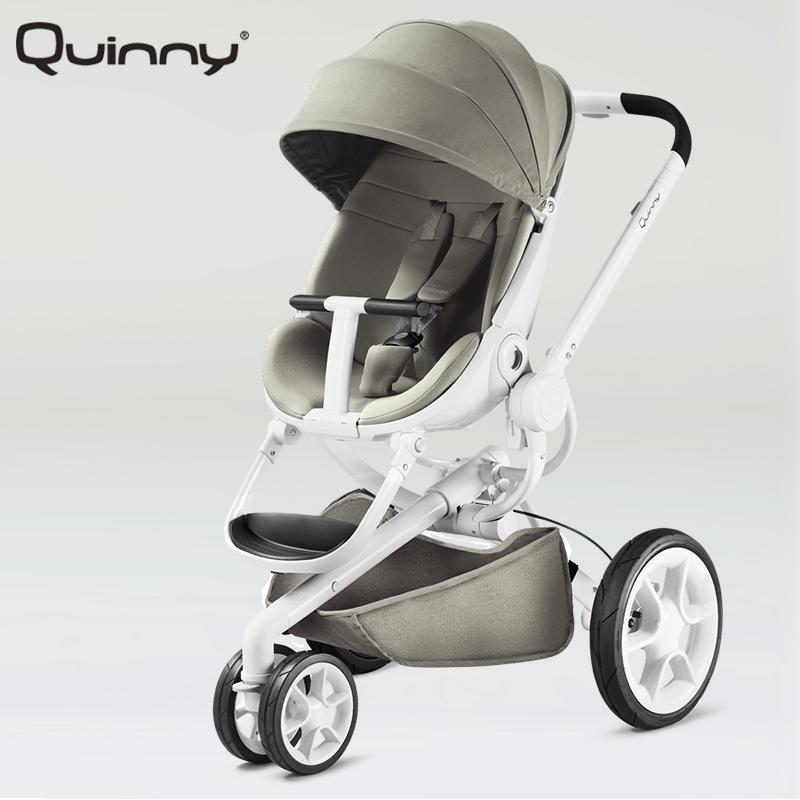 Original Quinny Baby Stroller Quinny Moodd baby Can Sit And Lie High Landscape Baby Stroller Light Folding trolley baby stroller high landscape can sit and lie trolley high quality folding baby cart children s pram