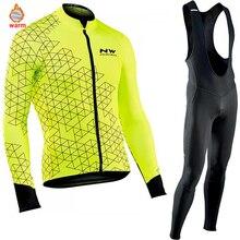 Northwave теплые 2019 зима термальность флис Велоспорт одежда СЗ для мужчин's Джерси костюм для прогулок верховой езды на велосипеде MTB костюмы комбинезон комплект