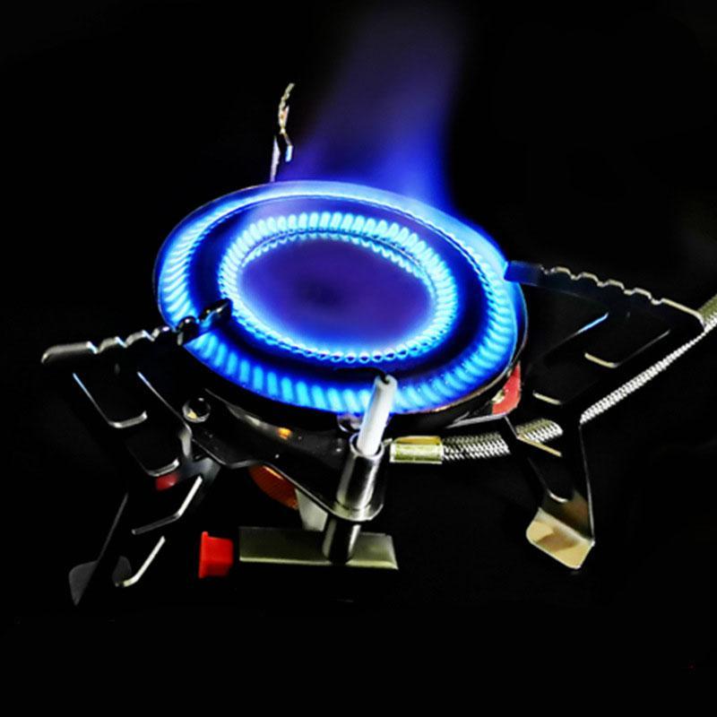 HobbyLane Detachable Camping Stove Portable Foldable Split Cooker Stoves For Outdoor Portable Steel Split Double Ring Burner