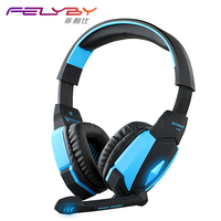 New Listing GU55 USB Stereo Gaming Headset Headset Headset With Microphone Volume Control LED Light For