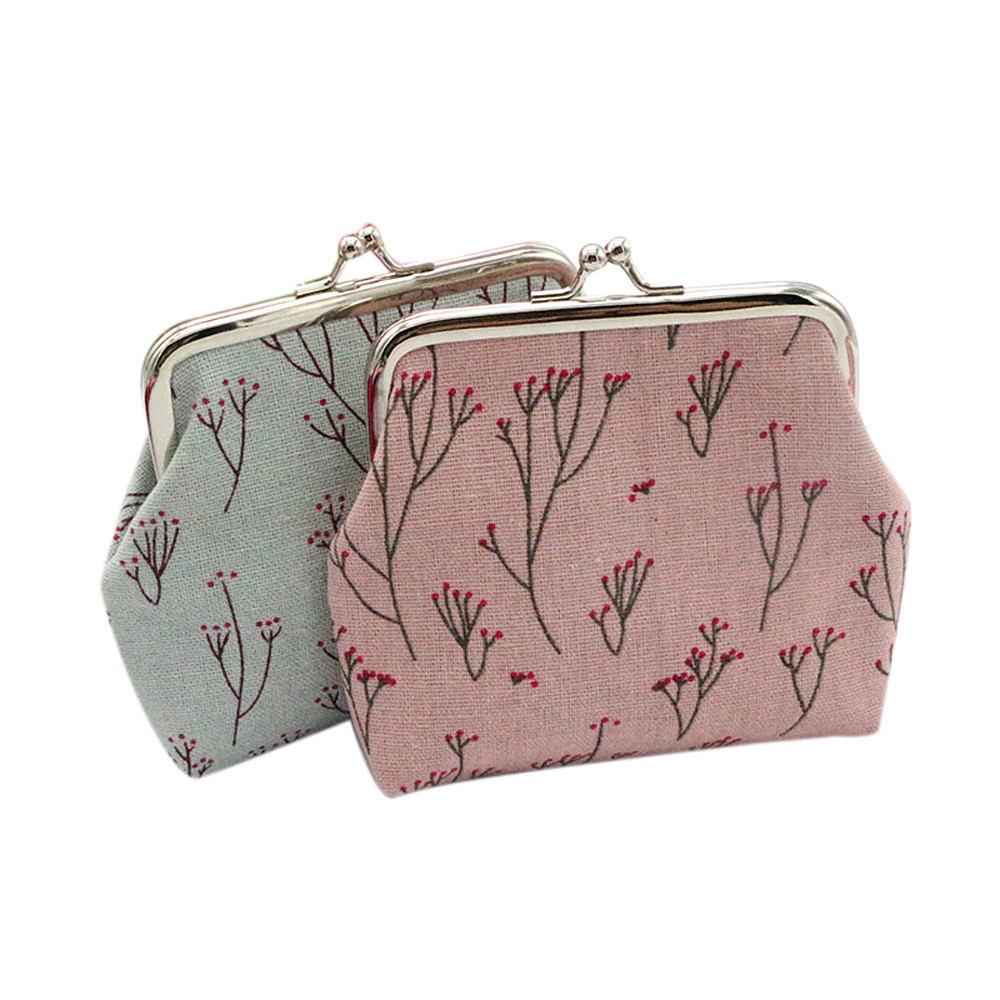 Women Printing Wallet Flower Sweety Card Holder Hasp Coin Purse Clutch Handbag Mini Kawaii Holders Monederos Mujer Monedas#11 women mini owl bird flower wallet card holder case coin purse clutch handbag bag